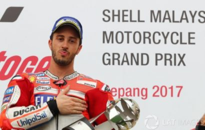 Malaysian MotoGP: ขอลุ้นปาฎิหารณ์ต่อไป Dovizioso เก็บชัยชนะสนามเซปัง